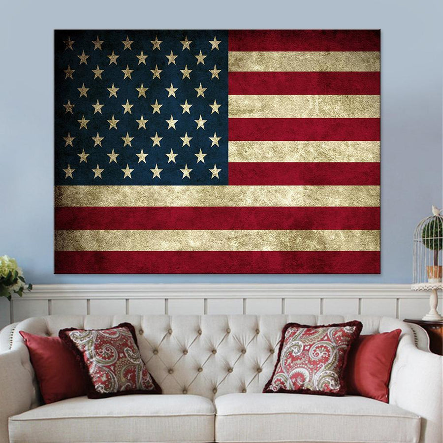American Flag Canvas Set - Canvasist