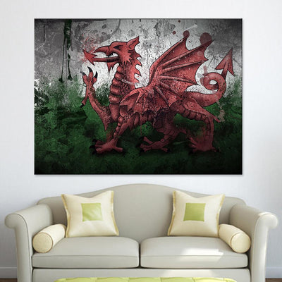 Wales Flag Canvas Set