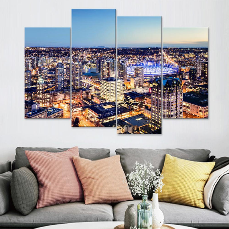 Vancouver City Top View Canvas Set - Canvasist