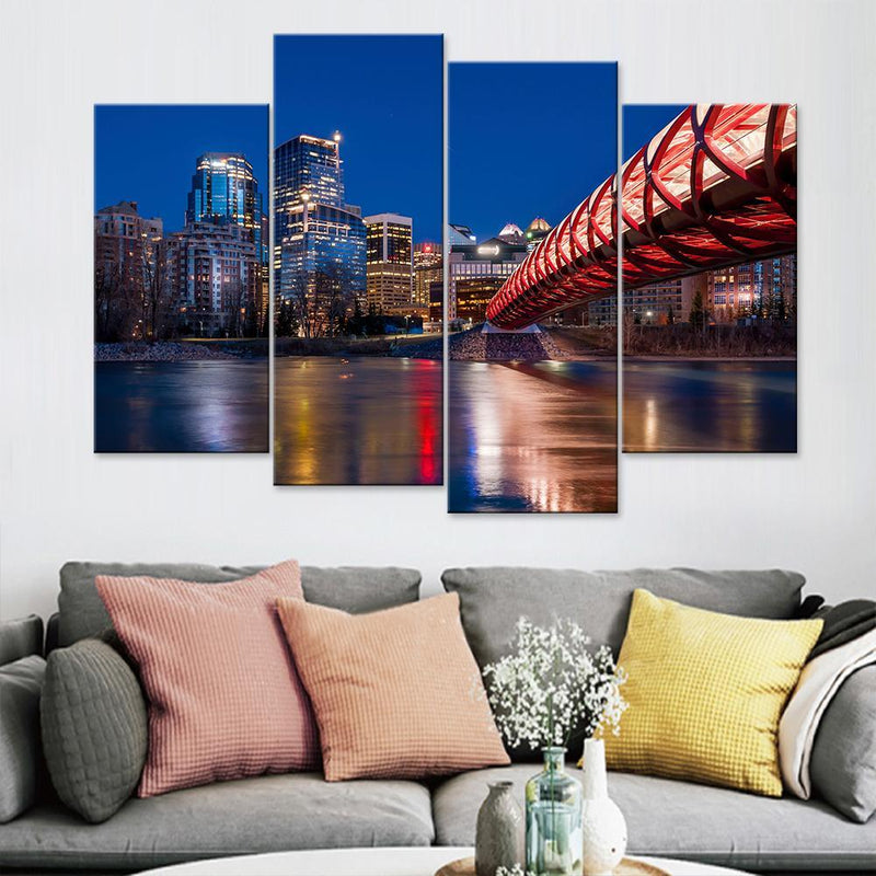 Calgary Skyscrapers Canvas Set - Canvasist