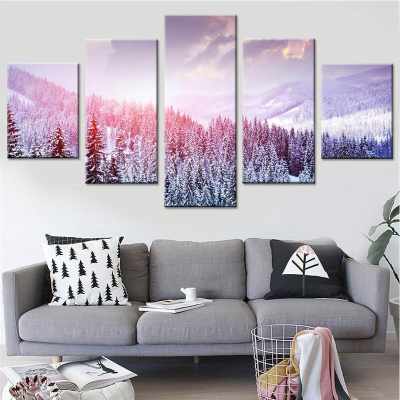 Woods in Winter Canvas Set - Canvasist