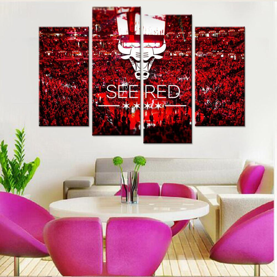 Chicago Bulls Logo Canvas Set - Canvasist