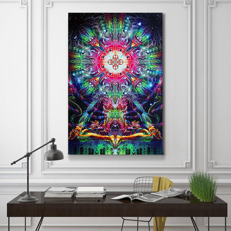 Psychedelic Head Canvas Set