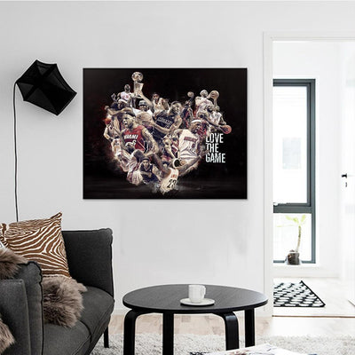 NBA Love The Game Canvas Set - Canvasist