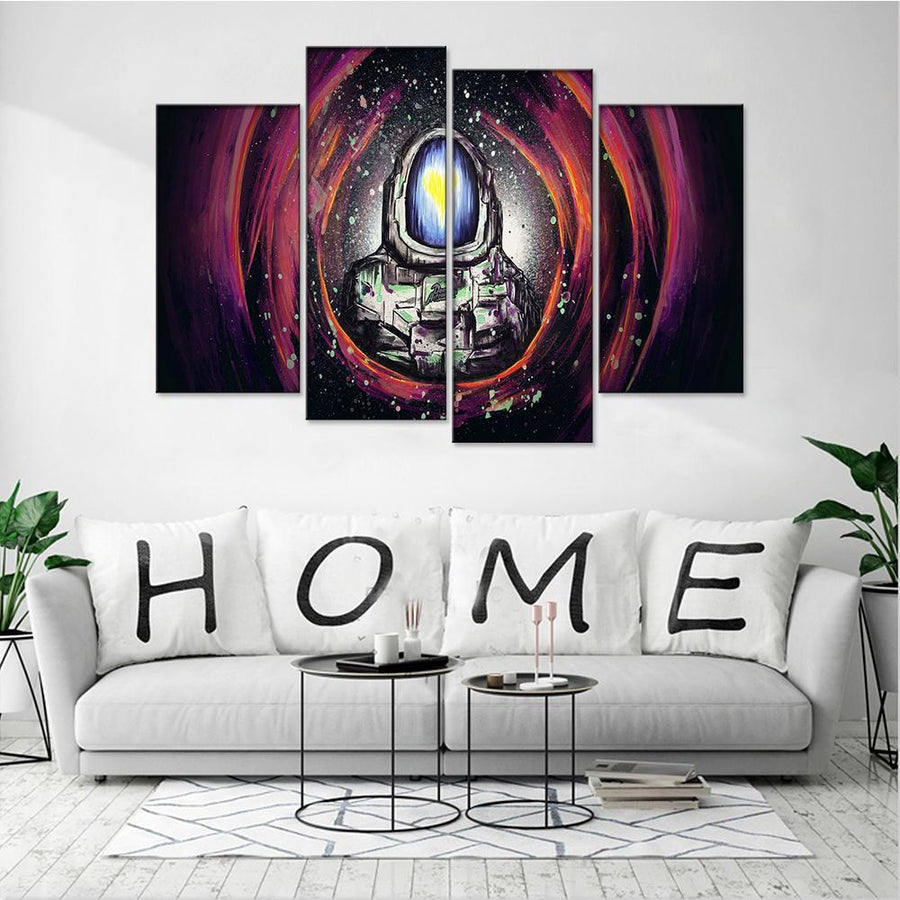 Abstract Astronaut Canvas Set - Canvasist
