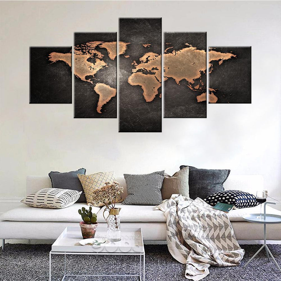 Flags maps canvasist rustic world map canvas set gumiabroncs Gallery
