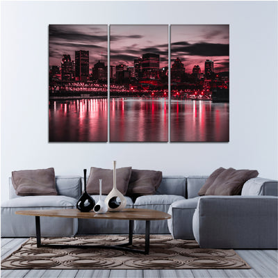 Montreal Lake View Canvas Set - Canvasist