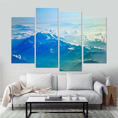 Cloudy Mountains Canvas Set - Canvasist