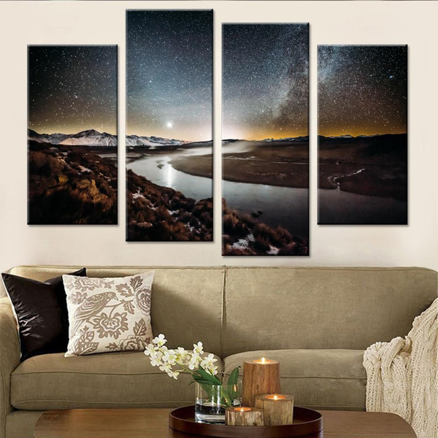 Stars Shinning on River Canvas Set