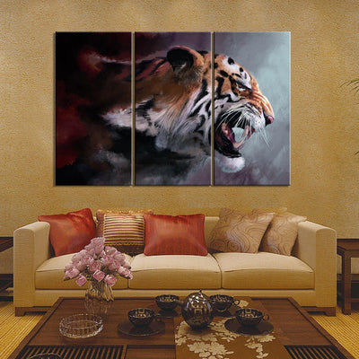 Angry Tiger Painting - Canvasist