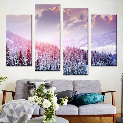 Woods in Winter Canvas Set