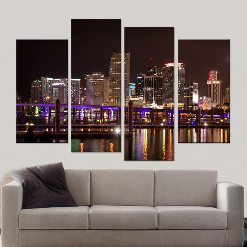 Miami City Skycrapers Canvas Set - Canvasist