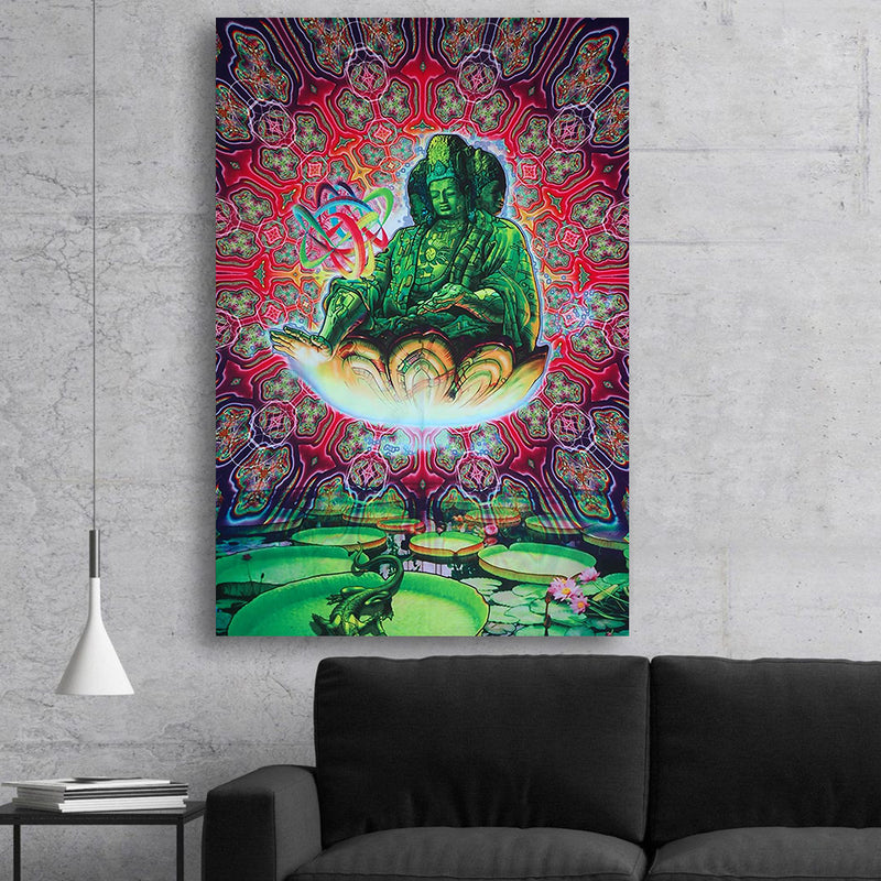 Psychedelic Buddha Canvas Set
