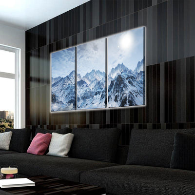 Snowy Mountains LED Canvas Set - Canvasist