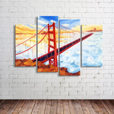 Golden Gate Bridge Painting Canvas Set - Canvasist