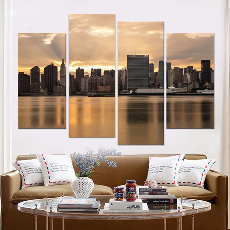 New York at Dawn Canvas Set - Canvasist