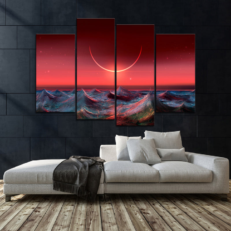 Extraterrestrial Eclipse Canvas Set - Canvasist