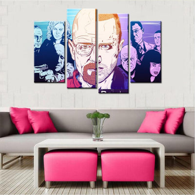 Breaking Bad Walter Jessie Canvas Set - Canvasist