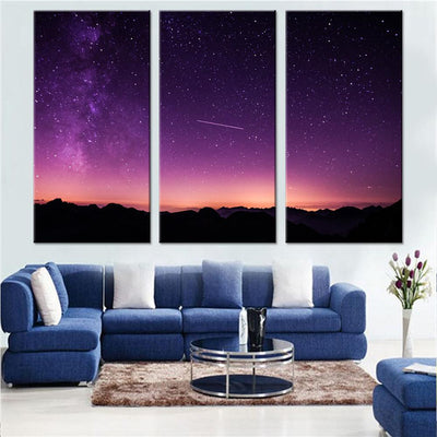 Beautiful Sky with a Shooting Star Canvas Set - Canvasist