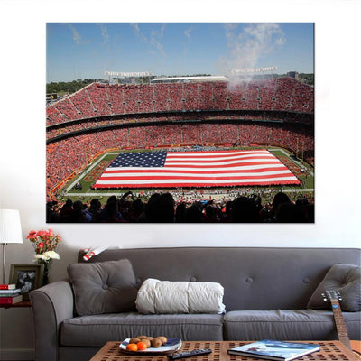 The Sea of Red Stadium Canvas Set
