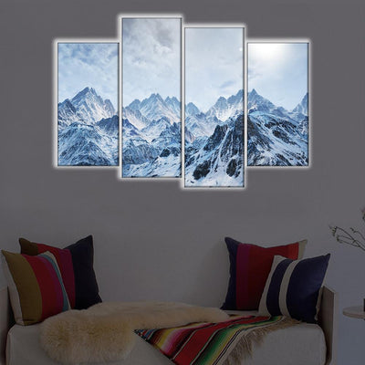 Snowy Mountains LED Canvas Set