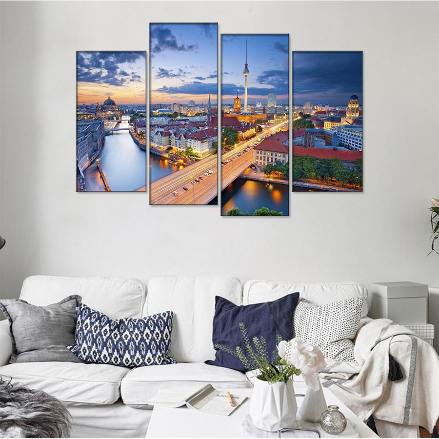Berlin City Top View Canvas Set - Canvasist