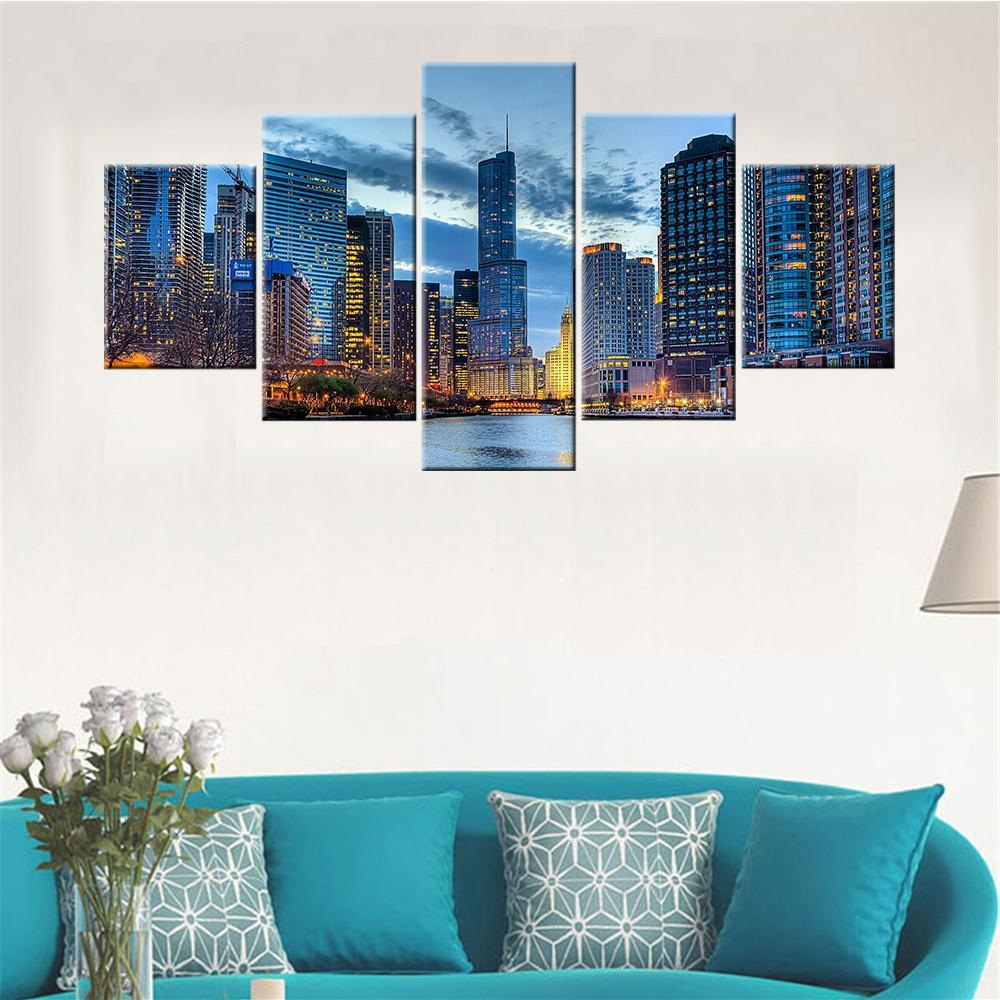 Chicago Lake View Canvas Set - Canvasist