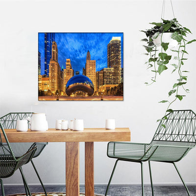 Cloud Gate Chicago Canvas Set - Canvasist