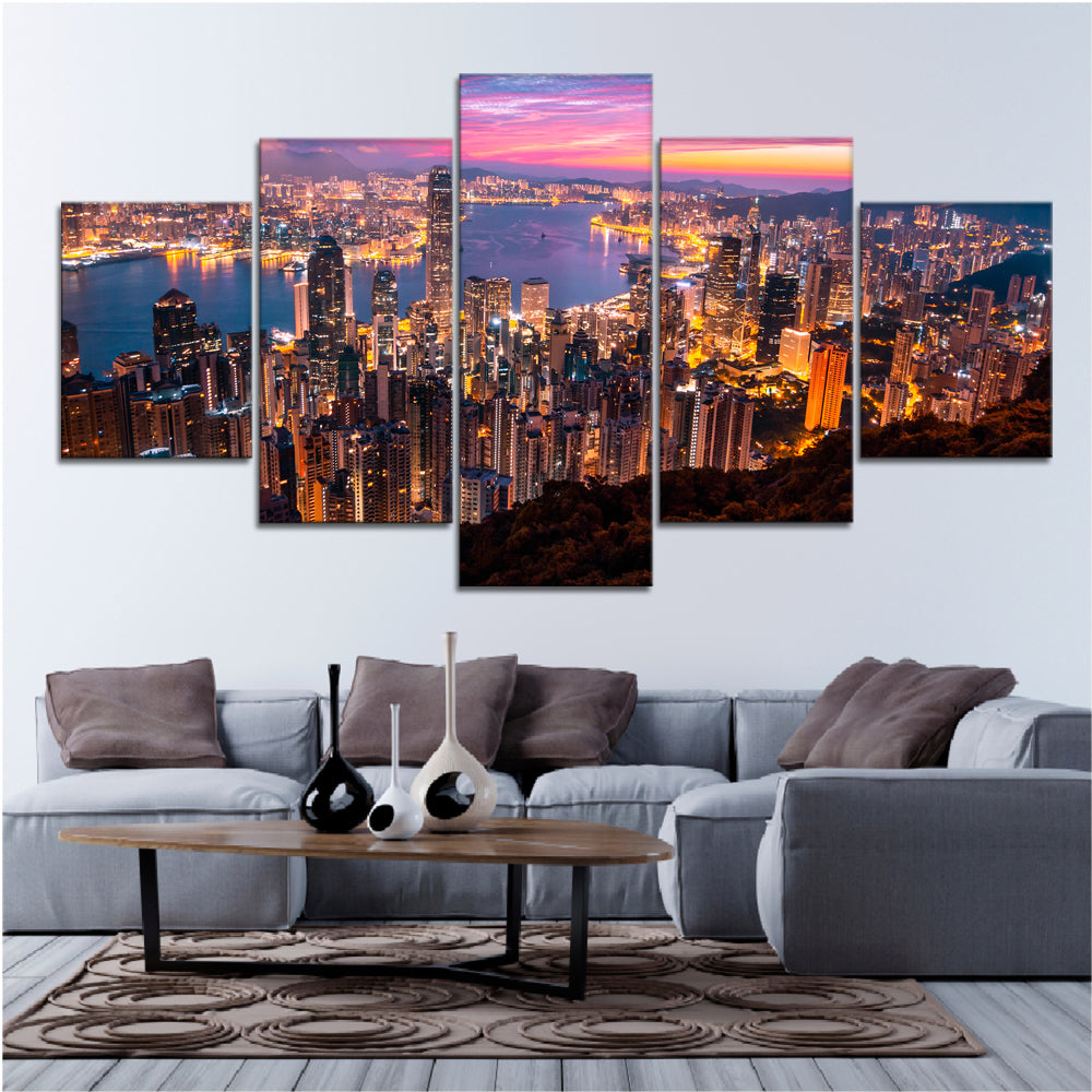 Hong Kong City Canvas Set - Canvasist
