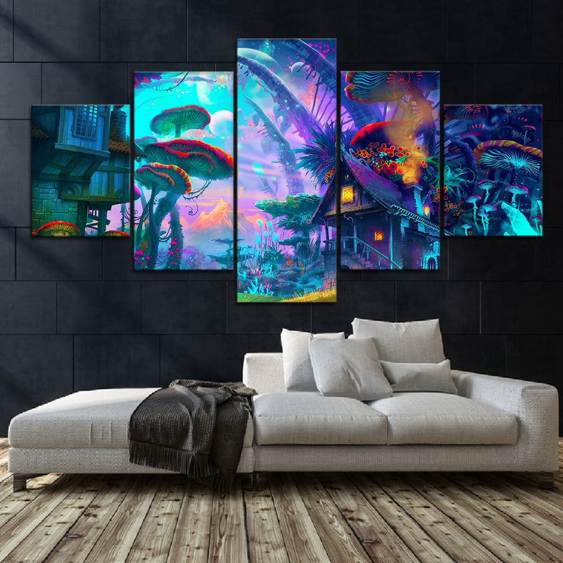 Shroom World Canvas Set