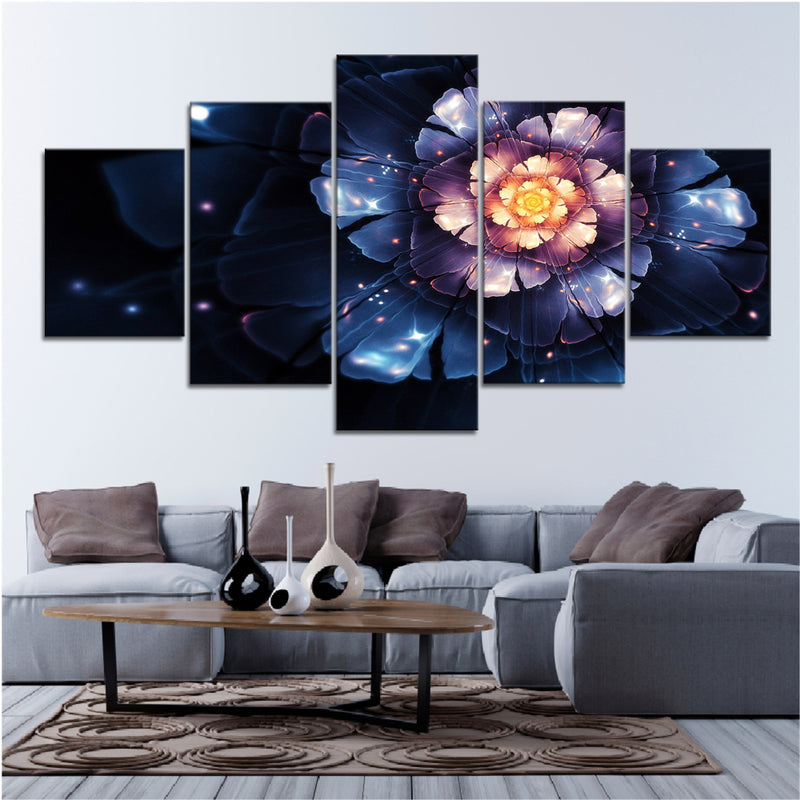 Vibrant Flower Canvas Set