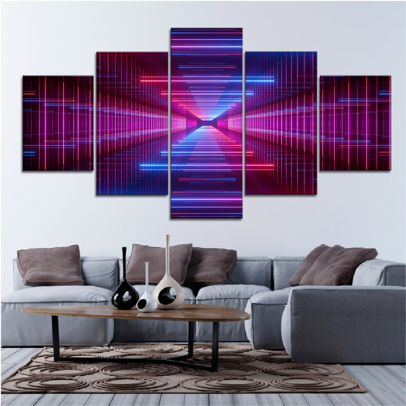 Neon Lane Canvas Set - Canvasist