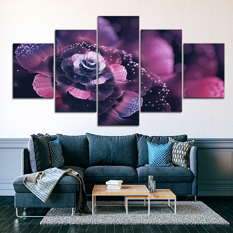Vibrant Flower (2) Canvas Set
