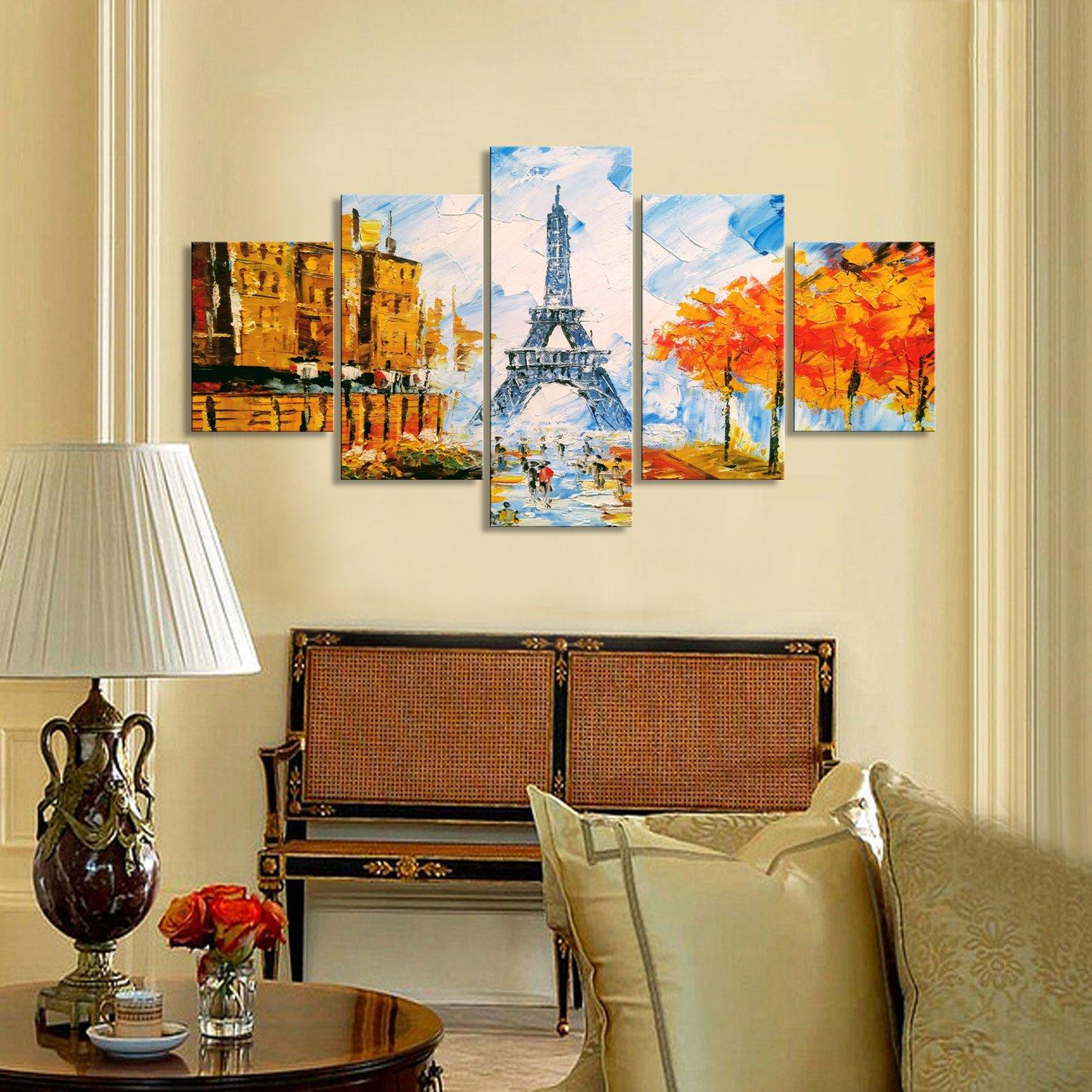 Eiffel Tower Painting Canvas Set - Canvasist