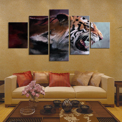 Tiger's wrath canvas - Canvasist