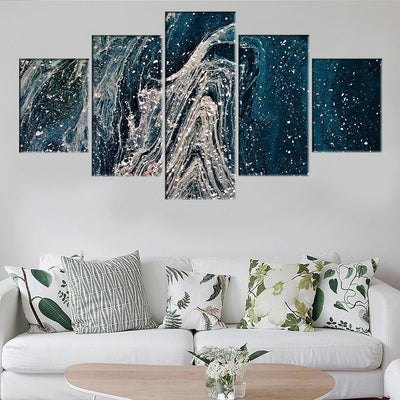 White Silence LED Canvas Set