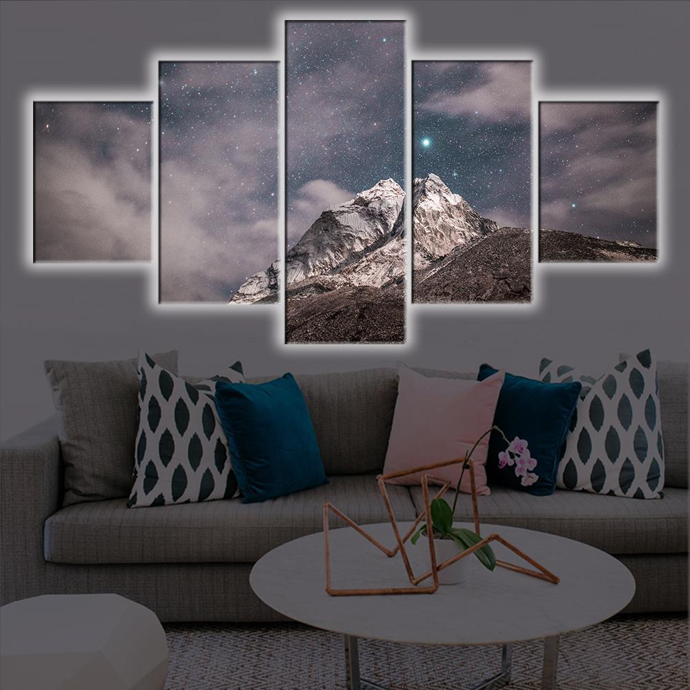 White Sky LED Canvas Set - Canvasist