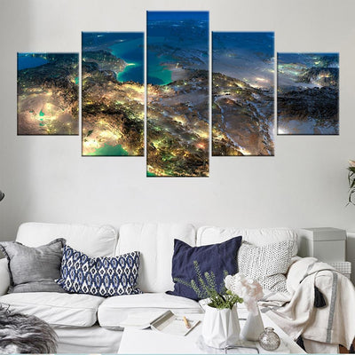 Satellite View LED Canvas Set