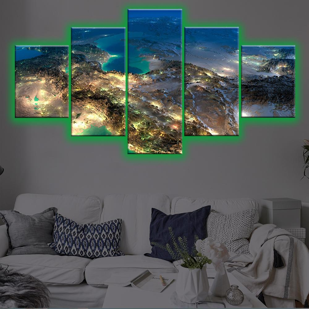 Satellite View LED Canvas Set - Canvasist