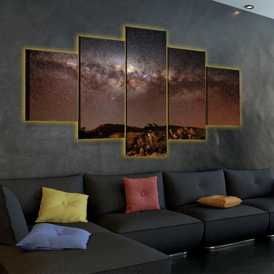 Among the Stars LED Canvas Set - Canvasist