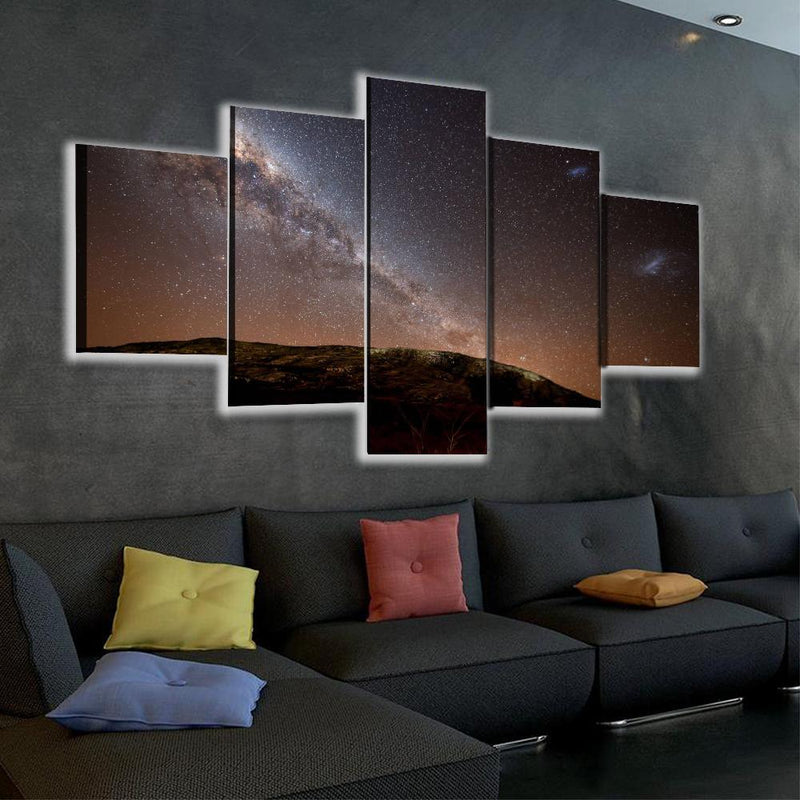 Serene Night Sky LED Canvas Set