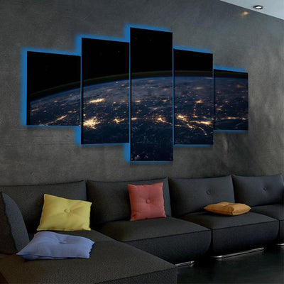 Earth's Ascent LED Canvas Set - Canvasist