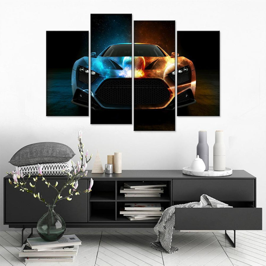 Abstract Car Canvas Set - Canvasist