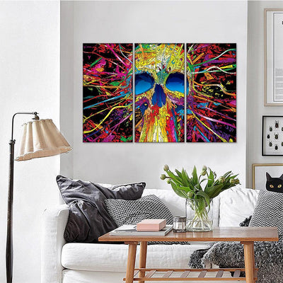 Psychedelic Skull Canvas Set - Canvasist