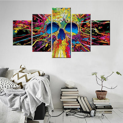 Psychedelic Skull Canvas Set