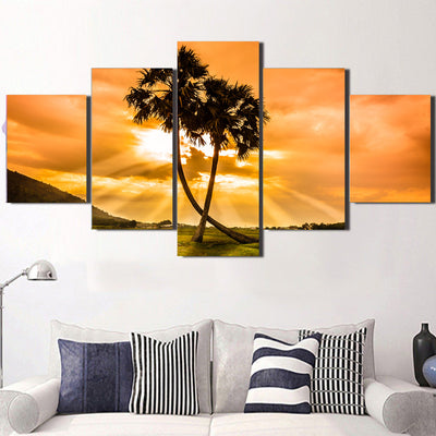 Golden Hour Glass Canvas Set - Canvasist