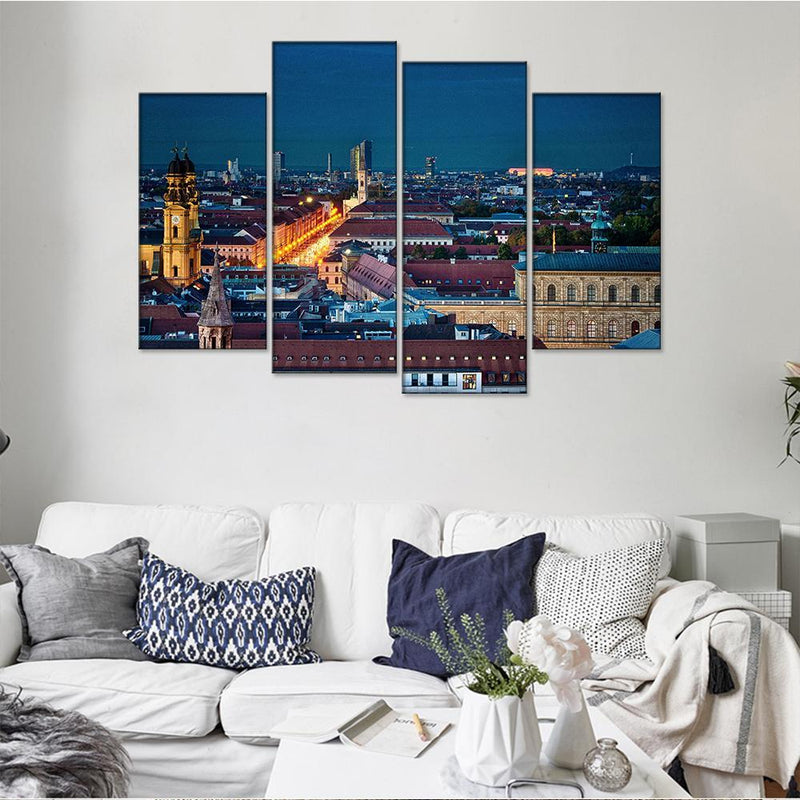 Munich Bird Eye View Canvas Set - Canvasist