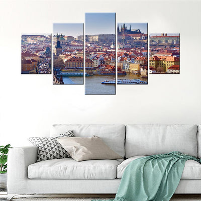 Prague City Skyline Canvas Set - Canvasist