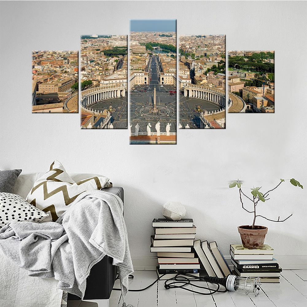 Rome City Top View Canvas Set - Canvasist
