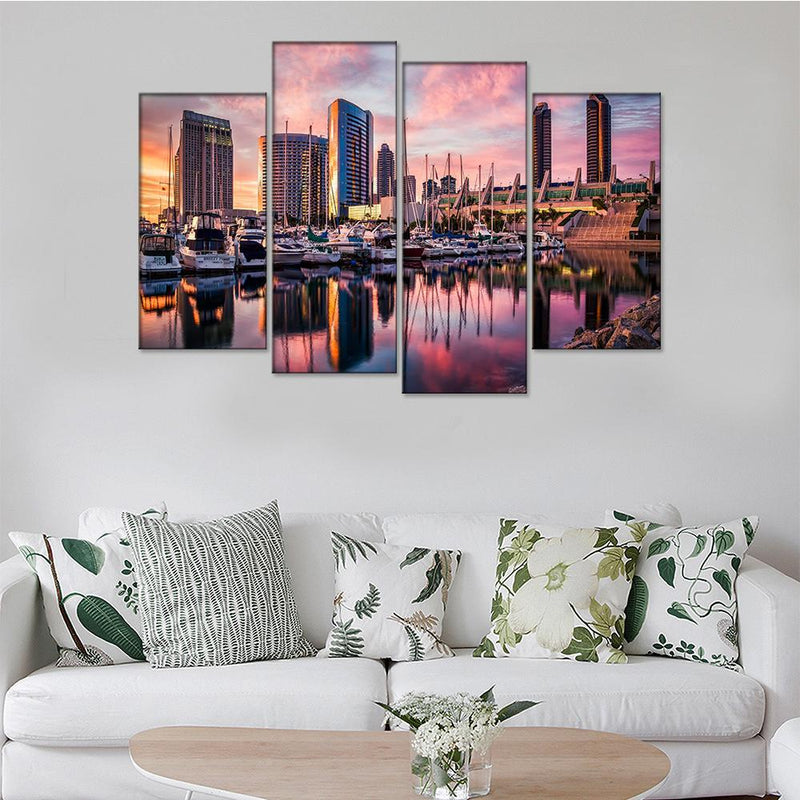 San Diego Harbor Canvas Set - Canvasist